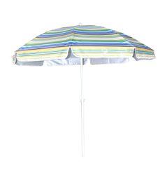 Seagull - Beach Umbrella Tilt UV50 Silver - 225cm - Blue and White Stripes
