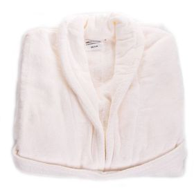 Club Classique - Luxurious Towelling Bathrobes With A Collar - White