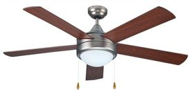 Bright Star - Mat Nickel Ceiling Fan