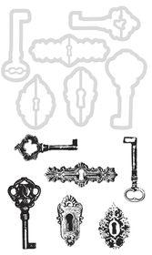 Kaisercraft Cutting Die & Stamp - Keys & Locks