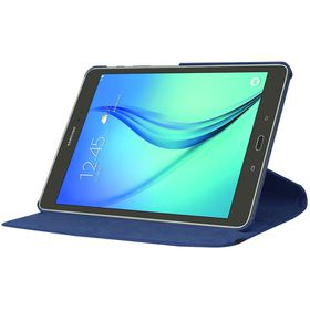 "Tuff-Luv Rotating Leather Case Cover for Samsung Galaxy Tab S2 9.7"" (Model - T815) - Blue"