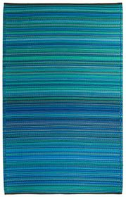Fabhabitat - Cancun Outdoor Rug - Turquoise & Moss Green