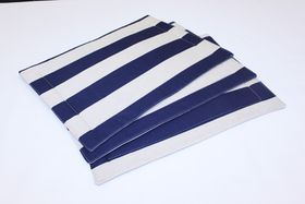 Balducci - Earthstone Placemats Set Of 6 - V Stripe and Navy