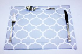 Balducci - 100% Polyester Amboise Design Placemats - Set Of 6 - Grey