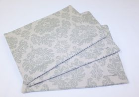 Balducci Earthstone Damask Placemats Set Of 6 - Duck egg