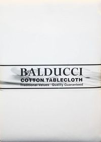Balducci - Cotton White Tablecloth - 12 Seater