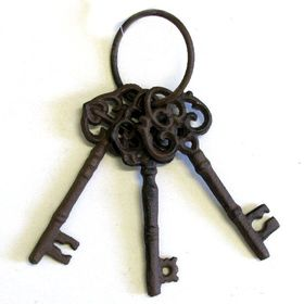 Pamper Hamper - Cast Iron Key Set - 3 Ornate Keys