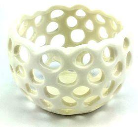 Pamper Hamper Ceramic Candle Holder -  Ivory