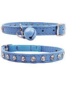 Doggie Hillfigher - Diamante Collar - Blue - Extra-Small