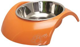Rogz - 2-in-1 Luna Orange Dog Bowl - Medium