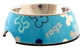 Rogz Lapz 2-in-1 Blue Bones Bubble Bowl - Medium
