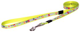 Rogz Lapz Trendy Multi Bones Fixed Long Dog Lead - Small