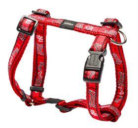 Rogz Fancy Dress Red Rogz Bone Dog H-Harness - Medium