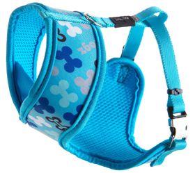Rogz Lapz Trendy Blue Bones Wrapz Harness - Small