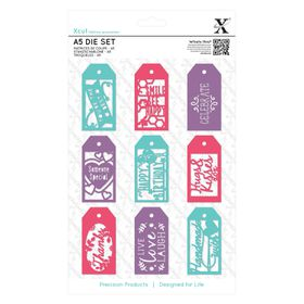 Xcut A5 Die Set - Everyday Gift Tag Set (10 Pieces)