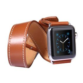 Tuff-Luv Double WatchBand with Connector for the Apple Watch - 38mm - Brown
