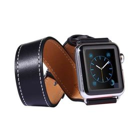Tuff-Luv Double WatchBand with Connector for the Apple Watch - 42mm - Black