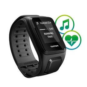 TomTom Spark Cardio + Music GPS Fitness Watch Black - Small