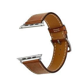 "Tek88 Apple Watch 42mm ""Hermes"" Caramel Leather Single Tour"