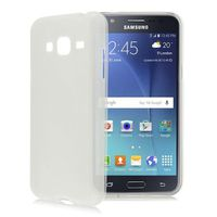 TPU Silicone Gel Skin Case for Samsung J1 Ace - White Frosted