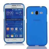 Silicone Gel Skin Case for Samsung Core Prime - Blue Frosted