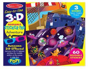 Melissa & Doug Adventure 3D Reusable Sticker Pad