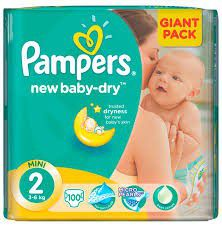 Pampers - New Baby Nappies - Size 2 - Giant Pack (100 count)