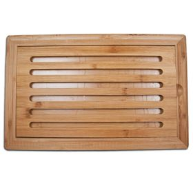 Regent  Bamboo Bread Board With Slatted Insert  - Brown