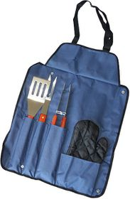 Eco - 4 Piece Braai Apron Set - Navy