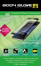 Body Glove Tempered Glass Screenguard For Samsung Galaxy S7 Edge - Black