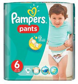 Pampers - Active Baby Nappy Pants - Size 6 - Carry Pack (19 count)
