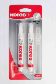 Kores Metal Tip Correction Pen - 2x 10g in Blister