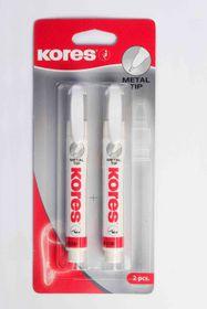 Kores Metal Tip Correction Pen - 2x 10g in Blister