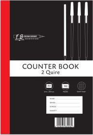 Freedom Stationery 2-Quire 192 Page A4 Q&M Counter Book (5 Pack)