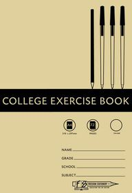Freedom Stationery 72 Page A4 Unruled College Exercise Book