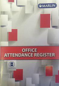Marlin A4 Office Attendance Register - 14 Leaves