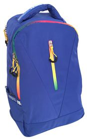 Edison 15.6'' Laptop Backpack in Blue with Neon Zip