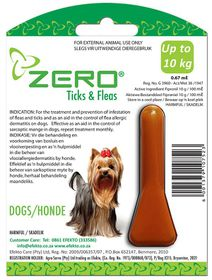 Efekto -  Zero Ticks & Fleas For Small Dogs - 0.67ml