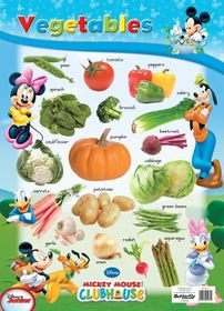 Butterfly Wallchart - Mickey Mouse Vegetables