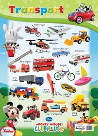Butterfly Wallchart - Mickey Mouse Transport