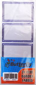 Butterfly 24 Blue Border labels