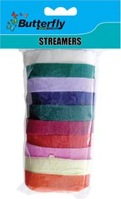 Butterfly Crepe Streamers - 10m x 10mm