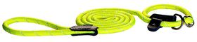 Rogz Rope Medium 9mm 1.8m Long Moxon Dog Rope Lead - Dayglo Yellow Reflective
