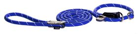Rogz Rope Large 12mm 1.8m Long Moxon Dog Rope Lead - Blue Reflective
