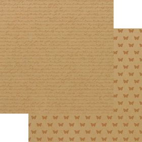 Lady Pattern Paper Kraft Essentials - Script - Metallic Copper (10 Sheets)