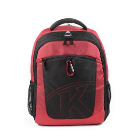 "Kingsons 15.4"" Laptop Backpack With Key Chain - Red"