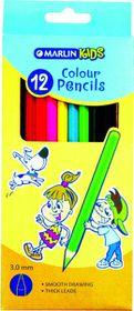 Marlin Kids 12 Colour Pencils