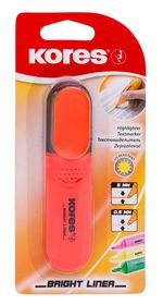 Kores Bright Liner Chisel Tip Highlighter - Orange