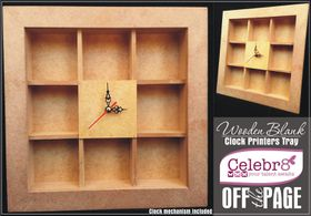 Celebr8 Off The Page - Clock Tray