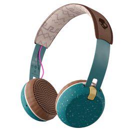 SkullCandy Grind Bluetooth Wireless Earphones - Pine/Mustard/Pink